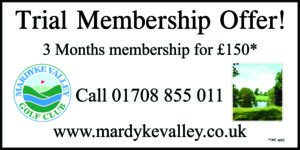 £150 for 3 months unlimited golf Trial membership